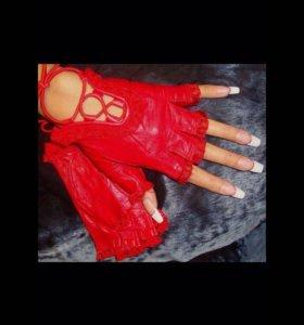 Перчатки на Хэллоуин Кожа