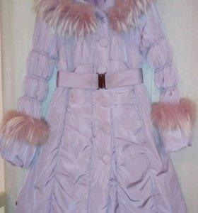 Зимний пуховик-пальто.