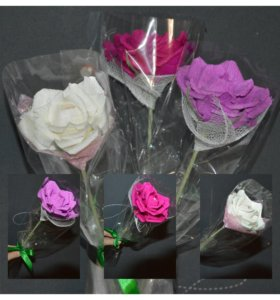 Одна роза в упаковке