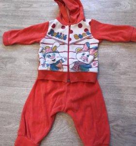 Детский спортивный костюмчик от 3-12 месяцев