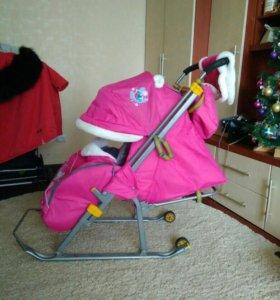 Санки коляска Ника как новые