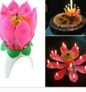 Музыкальная свеча для торта