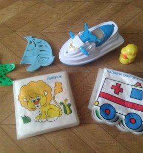Книжки для ванной и игрушки