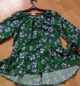 Блузка с баской новая