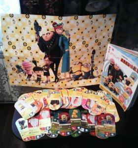 Миньоны' карточки'журнал'плакат
