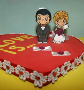 Подушечка для колец на бракосочетании