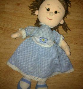Мягкая кукла,музыкальная