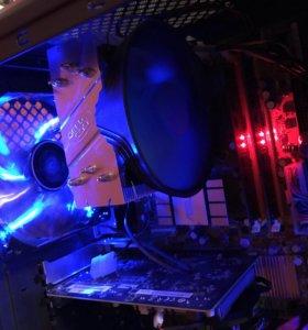 Игровой компьютер Intel Core 2 Quad Q9550/R7 250