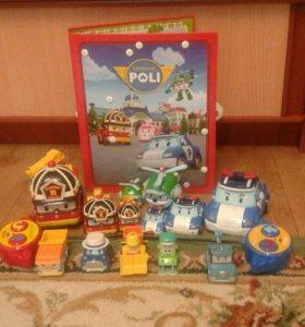 набор игрушек поли и его друзья