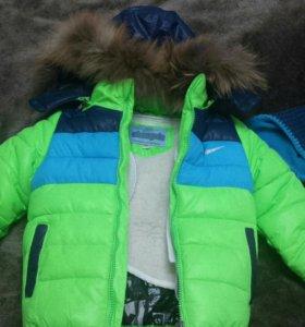 Куртка зимняя и шапка