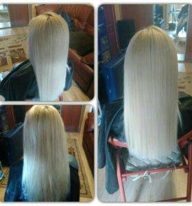Кератиновое выпрямление и лечение волос