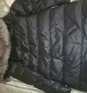 Куртка зимняя с воротником из натурального меха
