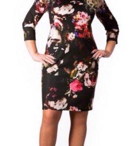 Платье трикотажное женское 54 размер новое