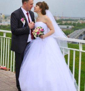 Продаю свадебное платье, туфли и фату