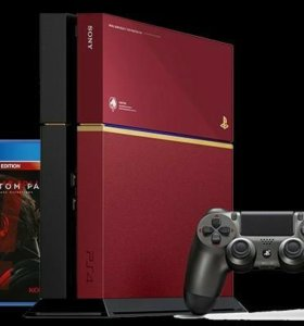 Sony Playstation 4 red limited edition metal gear
