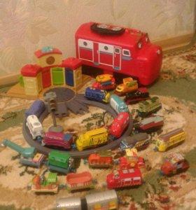 набор игрушек паровозики чагинтон