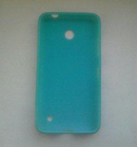 Силиконовый Чехол голубой на nokia lumia 630