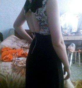 Платье в пол длинное