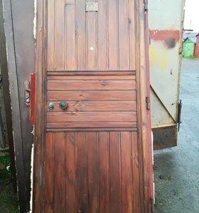 Металлическая дверь б/у 86*205 Правая