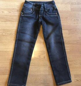 Тёплые джинсы на девочку 6 лет р.21