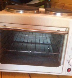 Мини печь с плитой б/у