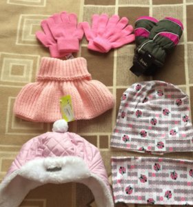 Перчатки шапка варежки манишка