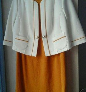 Платье +жакет размер 54-56