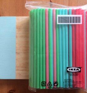 Трубочки для коктейлей IKEA, 100 шт