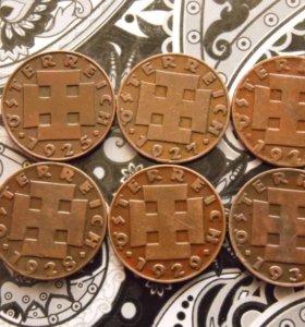 Монеты Австрии, номинал 2 гроша 1925-1936гг