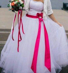 Свадебное платье + подарок отпариватель