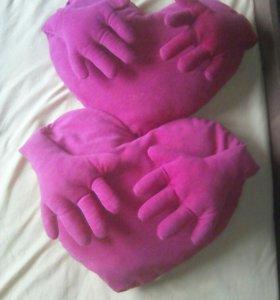 Подушки сердцем