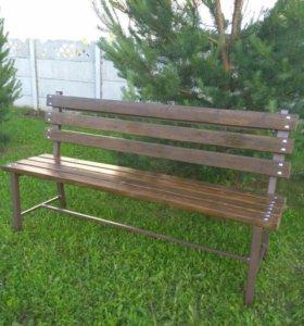 Мебель садовая (Скамейка-лавка со спинкой).