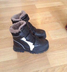 Ботинки зимние размер 34