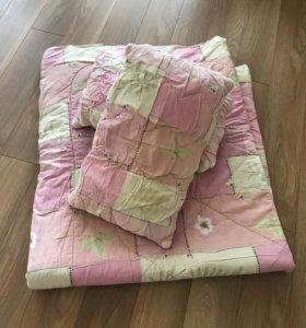 Одеяло синтепон и 2 подушки