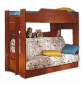 Кровать двухъярусная с диван - кроватью без матра