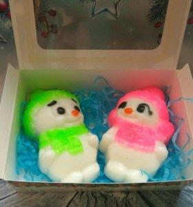 Новогодний набор мыла Снеговички