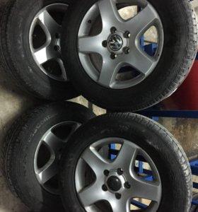235/65R17 Continental+литые диски (зима) Touareg