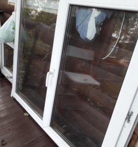 Два окна б/у 1400ш*1200в и 600*600