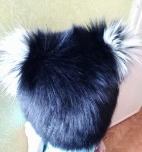 Меховая шапка (почти новая)