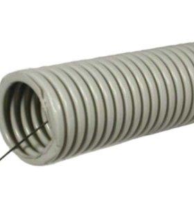 Гофро-труба пвх легкого типа с зондом d 25 (50м)
