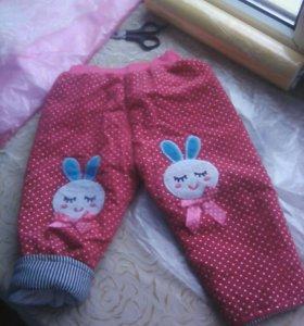 Теплые штаны на девочку