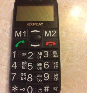 Телефон для слабовидящих. 2 симки.