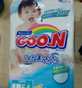 Детские подгузники Goon L (9-14кг) 54шт