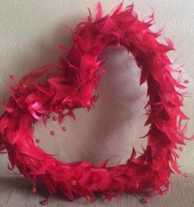 Декоративное сердце подарок, декор