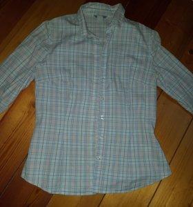 Рубашка хлопок из США в клетку