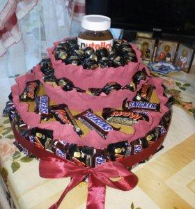 Торты из конфет(на заказ)