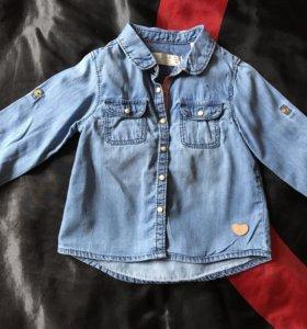 Джинсовая рубашка Zara 86