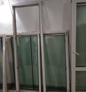 Пластиковое окно большое б/у