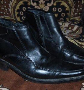 Мужские зимние ботинки. Натур. кожа, натур. мех