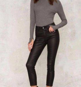 Штаны джинсы брюки чёрные скини